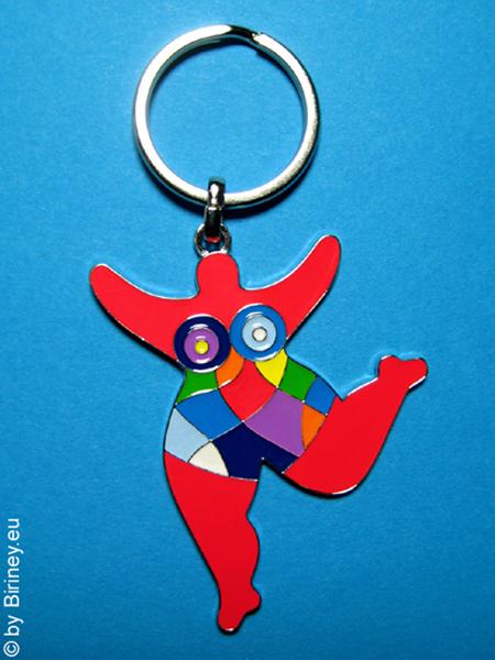 Nana-Schlüsselanhänger in Rot - Original Biriney