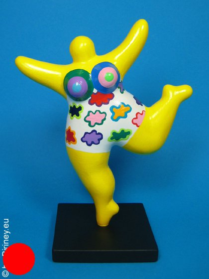 sculpture Nana 18cm en jaune