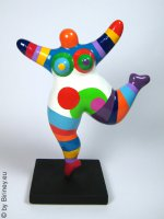 sculpture Nana 18cm multicolore