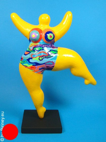 Unikat-Figur: gelbe Nana 26cm