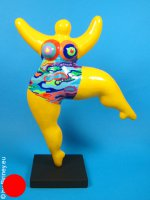 unique NANA sculpture 26cm with colourful pattern