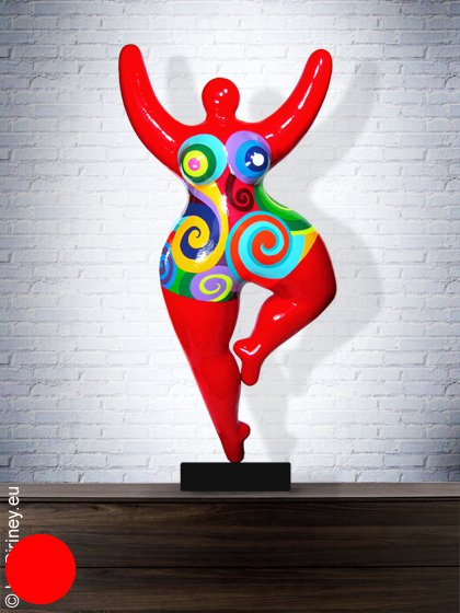 Unikat: rote Nana-Figur Höhe 68cm