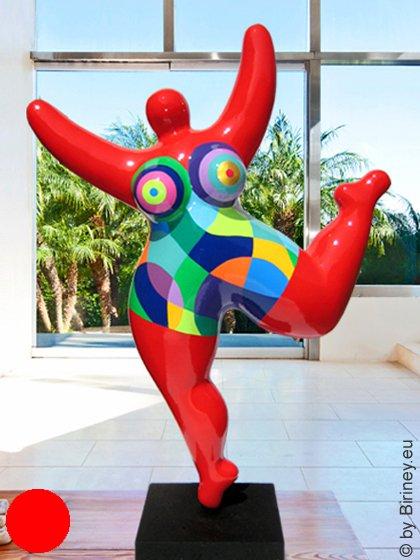 große Nana-Figur Höhe 87cm in Rot * Unikat