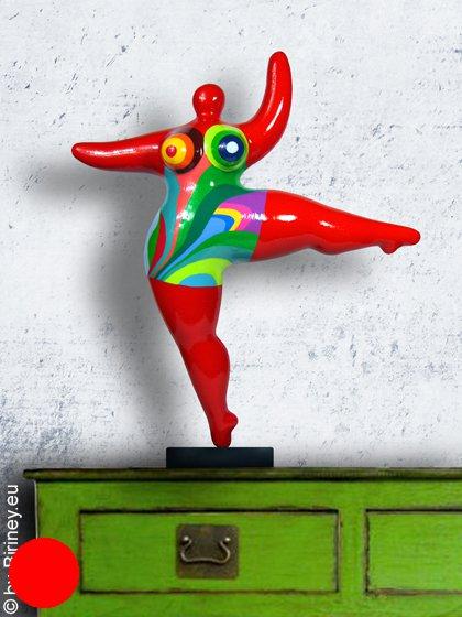 """Unikat: rote Nana-Figur Höhe 49cm """"Balance"""""""