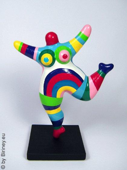 bunt gestreifte Miniatur Nana-Figur 18cm