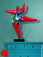 unique NANA in red - height 50cm colourful pattern