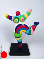 candy-striped NANA sculpture 18cm