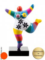 Nana multicolore ! socle en pierre naturelle