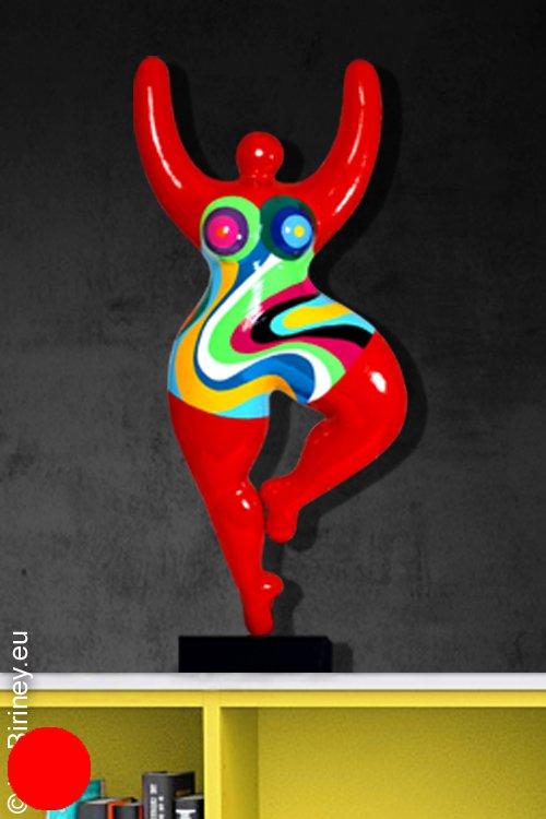 Unikat: rote Nana-Figur Höhe 59cm