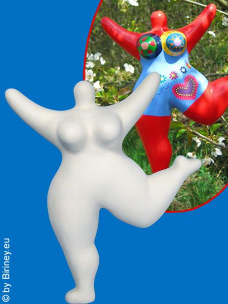 Keramik-Nana zum selber Bemalen! Gartenfigur
