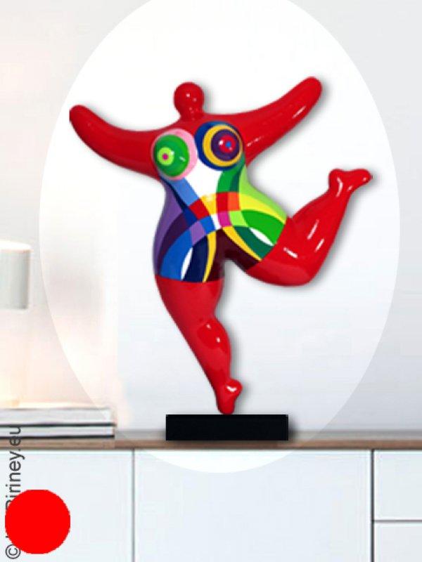 objet unique : statue Nana 48 cm en rouge
