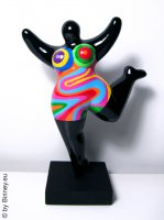 black NANA sculpture height 24cm - also for outdoor use