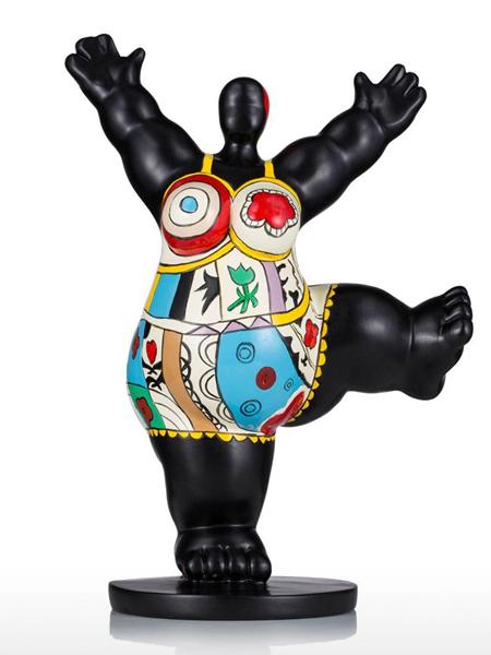 bunt bemalte Nana-Figur Höhe 28cm aus Kunstharz