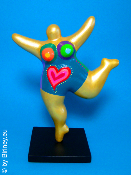 golden NANA sculpture 7 inches with heart
