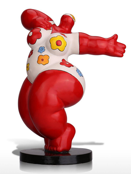 Aktionspreis: üppige rote Nana-Figur nach Botero! Höhe 28cm aus Kunstharz