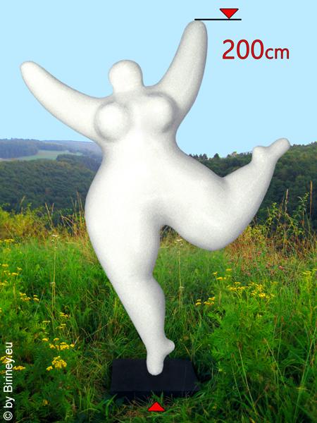 Grande statue NANA pour l'extérieur : Hauteur de 200 cm