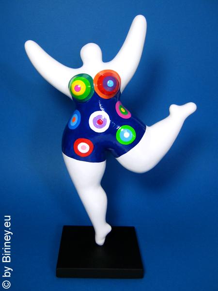 statue Nana en blanc avec des motifs colorés! en céramique 32 cm