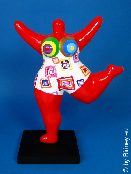 red NANA sculpture coloured pattern! 26cm / 10 inches