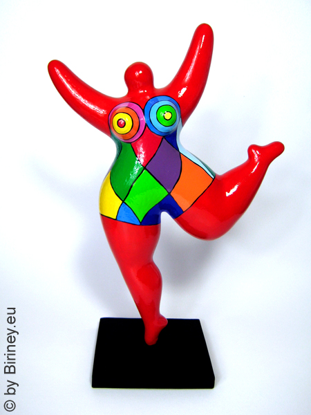 red NANA sculpture coloured pattern! 32cm / 12.5 inches