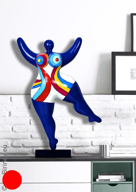 verkauft: Unikat: dunkelblaue Nana-Figur Höhe 49cm