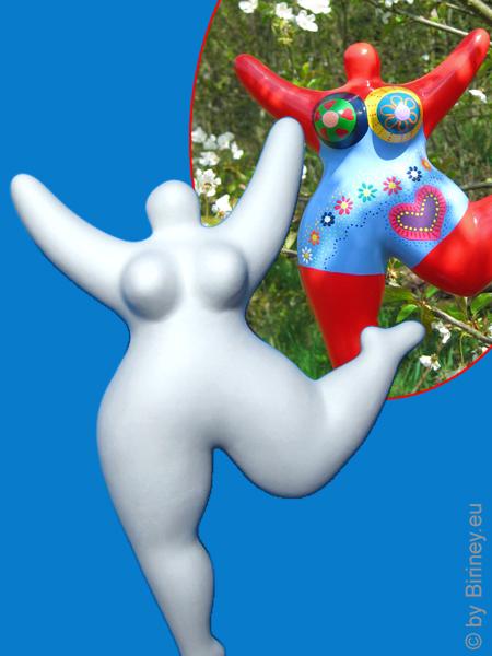 Nana-Figur zum selber Bemalen! aus Keramik Gartenfigur