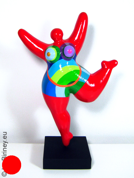"verkauft: Unikat: rote Nana-Figur ""Orbit"" Höhe 35cm"