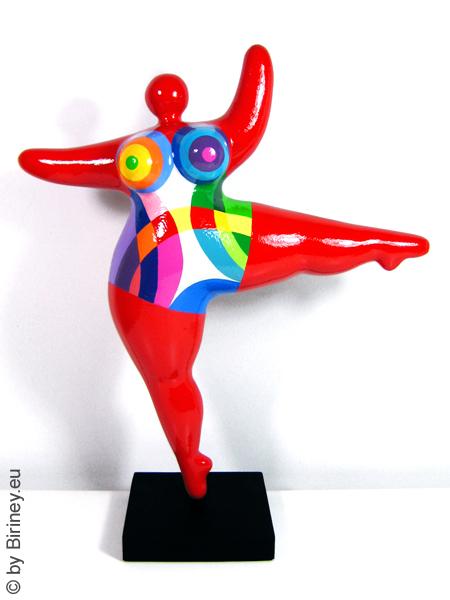 """objet unique : statue Nana de 44 cm en rouge """"Corebow"""""""