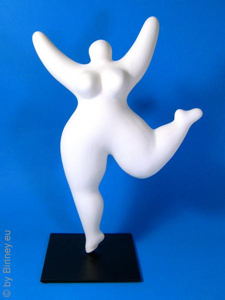 NEU: mit Sockelplatte! Nana-Figur zum selber Bemalen! aus Keramik 31cm